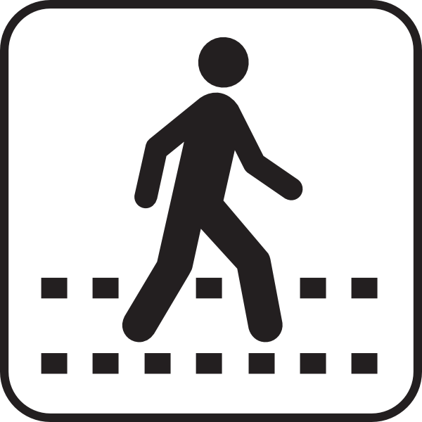 Pedestrian Crossing White Clip Art at Clker.com.