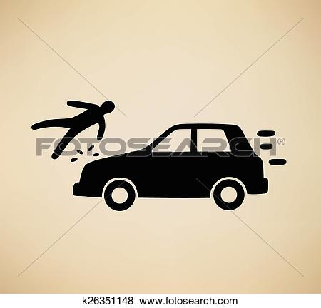 Clip Art of pedestrian hit k26351148.