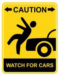 Sometimes Pedestrians Hit Cars.