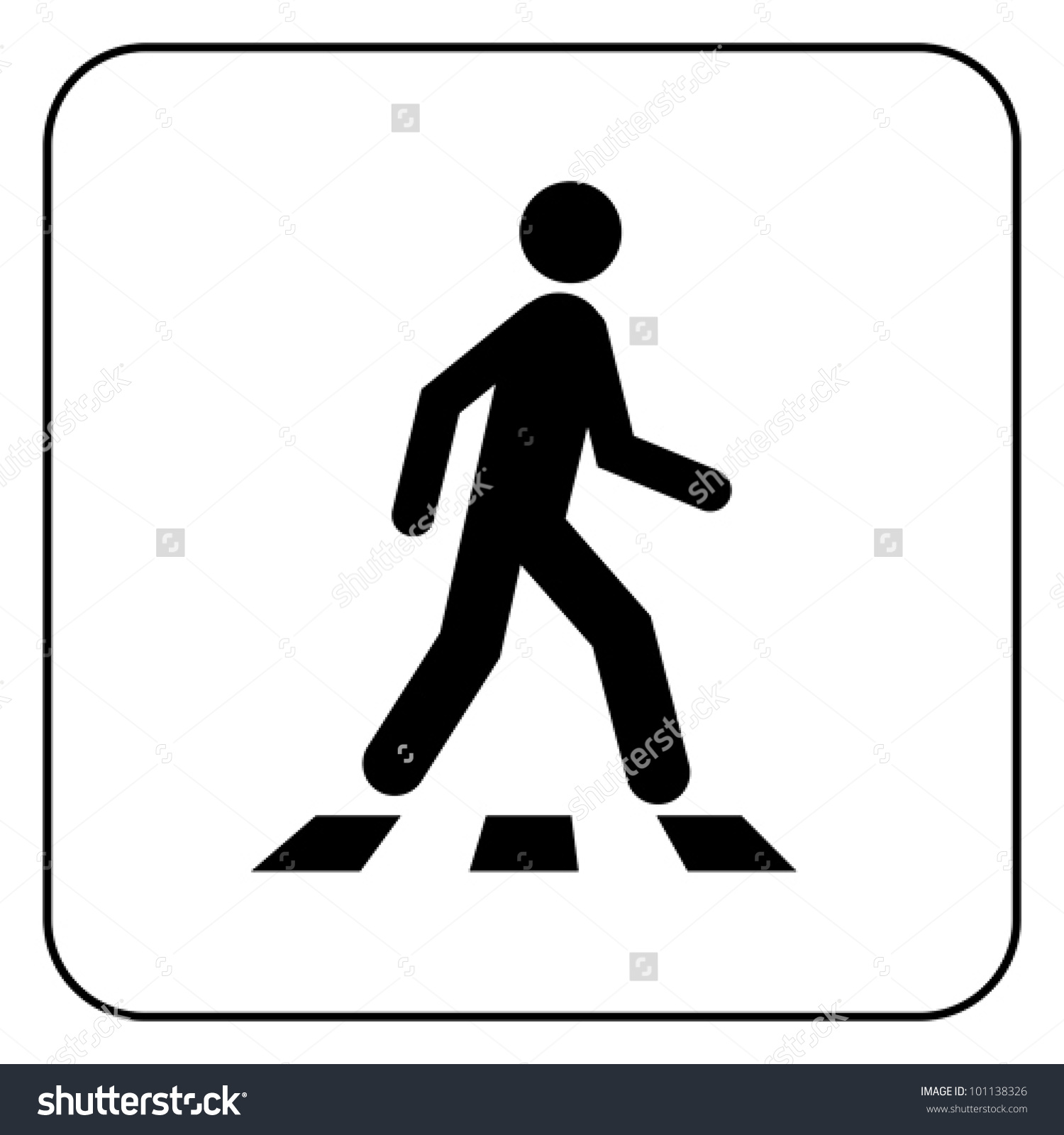 Showing post & media for Crosswalk symbol.