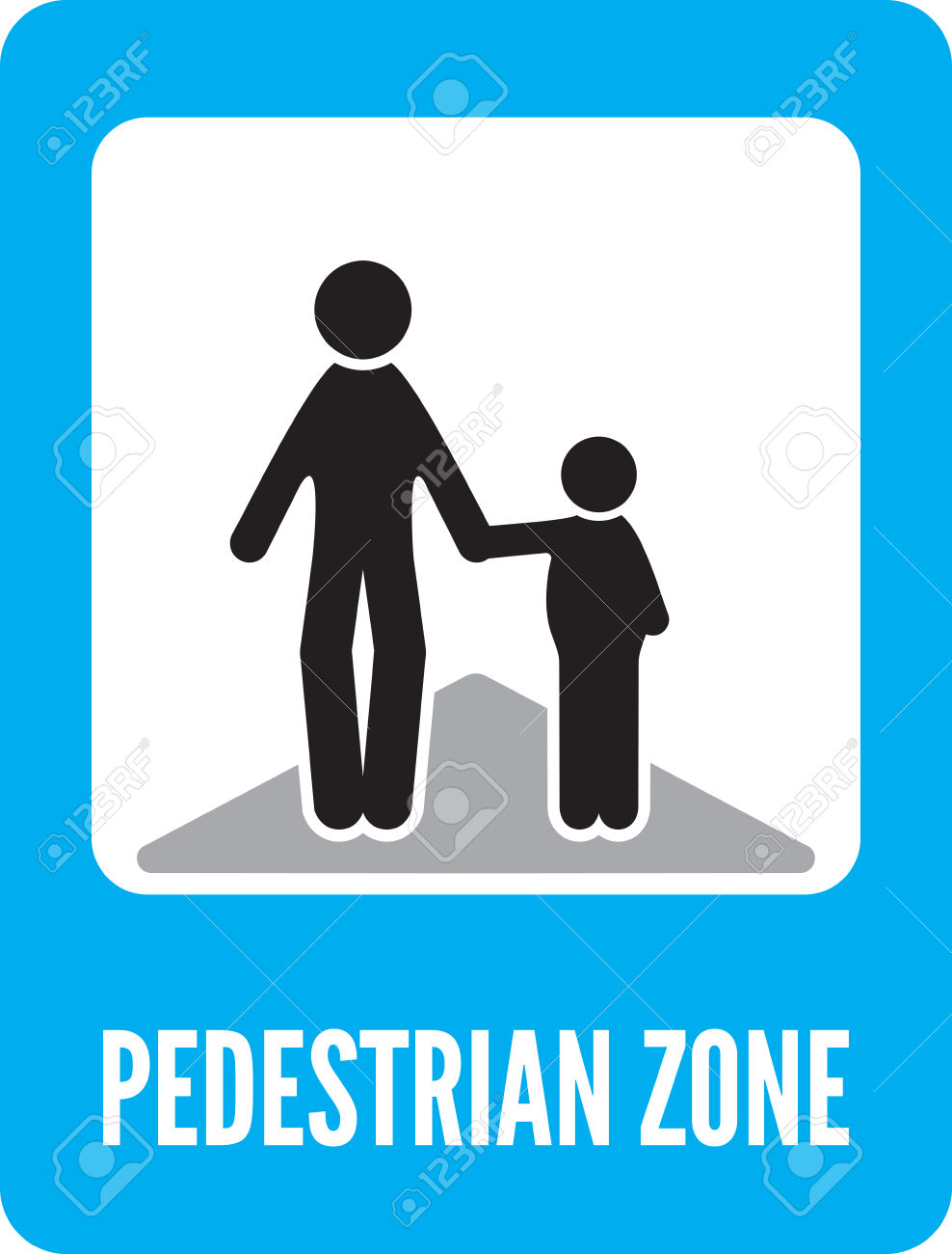 Pedestrian Zone Symbol Royalty Free Cliparts, Vectors, And Stock.