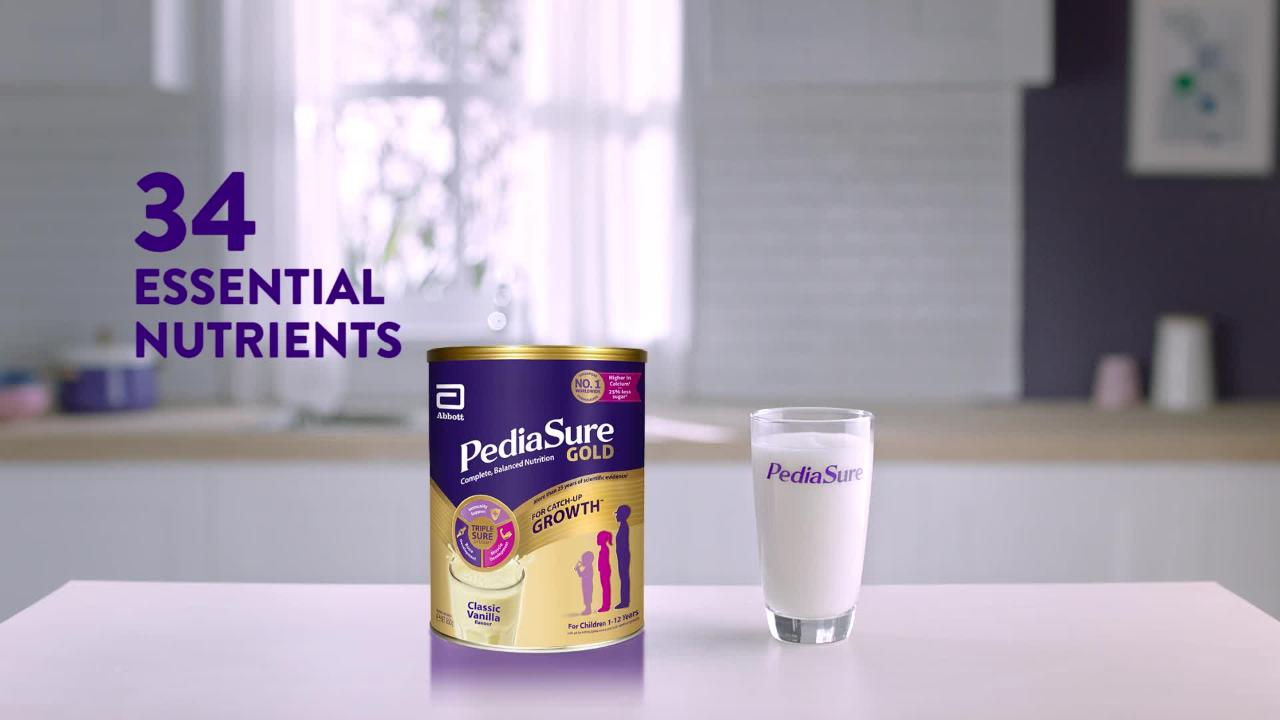 PediaSure. Nutrition you can be sure of..