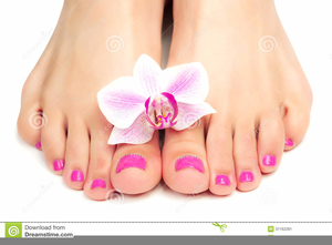 Pedicure Clipart.