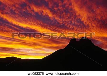 Stock Image of Massif Pedraforca (2497m) at sunset. Bergueda.
