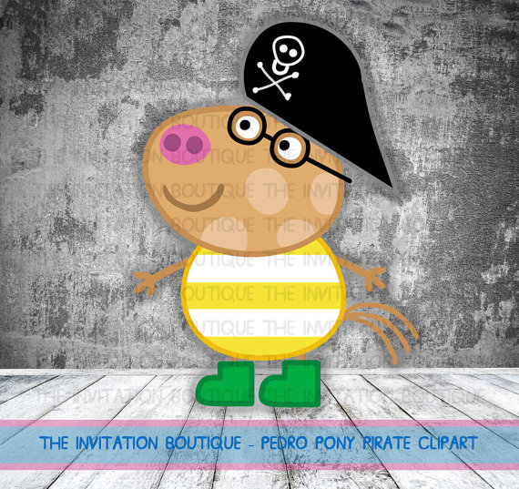 Peppa Pig Clipart Pedro Pony Pirate by TheInvitationBoutiqu.