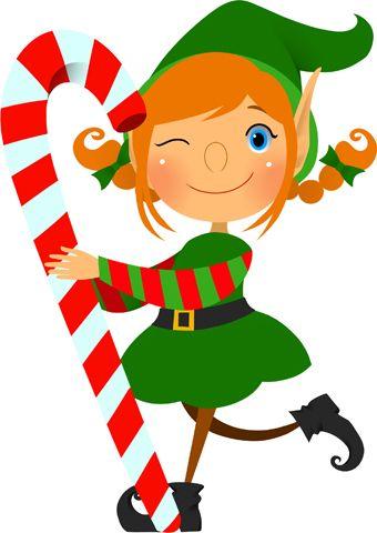 Cute Elf Clipart.