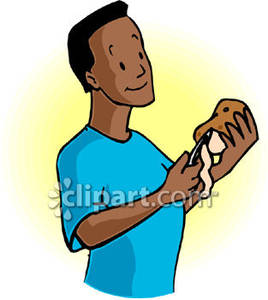 Image of an Ethnic Man In a Blue Shirt Peeling a Potato Royalty.