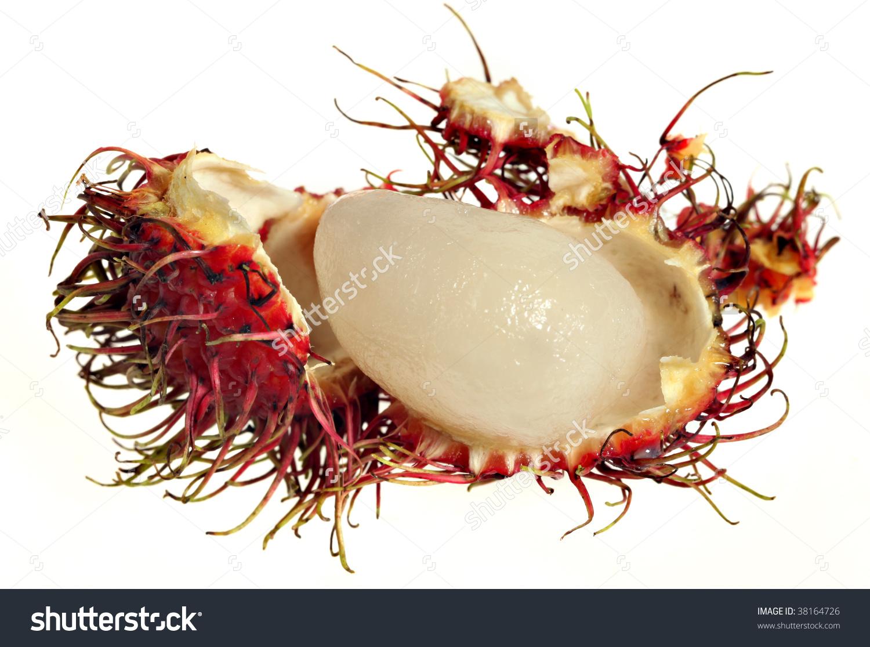 Rambutan Shell Peeled Off Reveal Fruit Stock Photo 38164726.