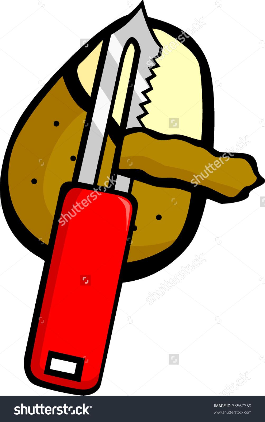 Peeling Potato Stock Vector 38567359.
