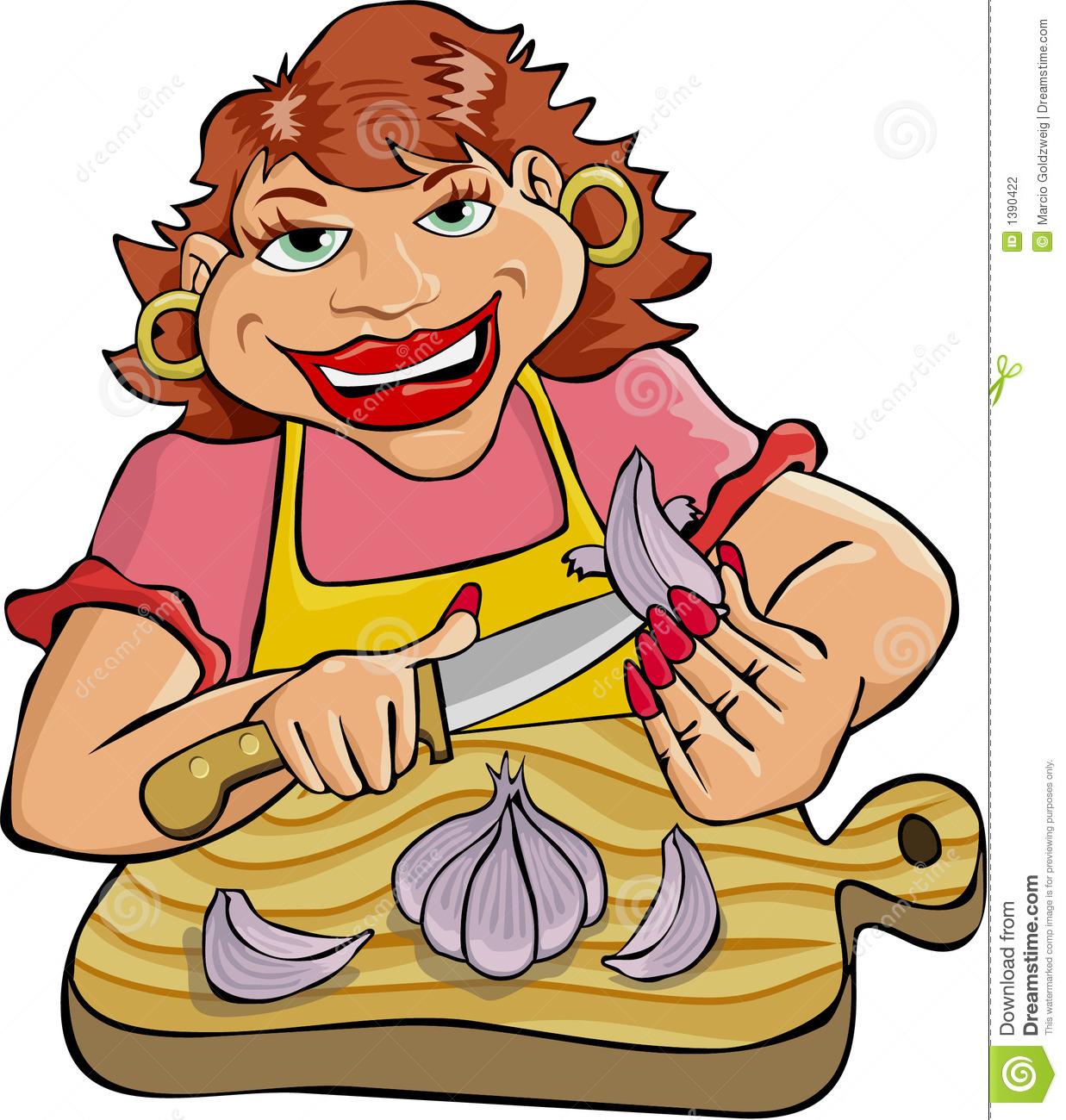 Peeling Garlic Stock Photography.