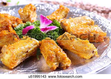Stock Photo of fried orange peel ribs u51995143.