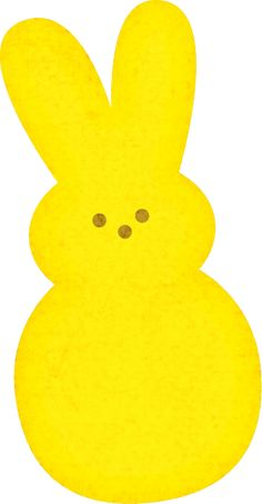 Easter bunny peeps clipart.