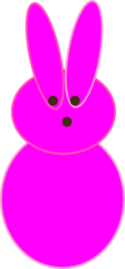 Pink Peep Clip Art at Clker.com.