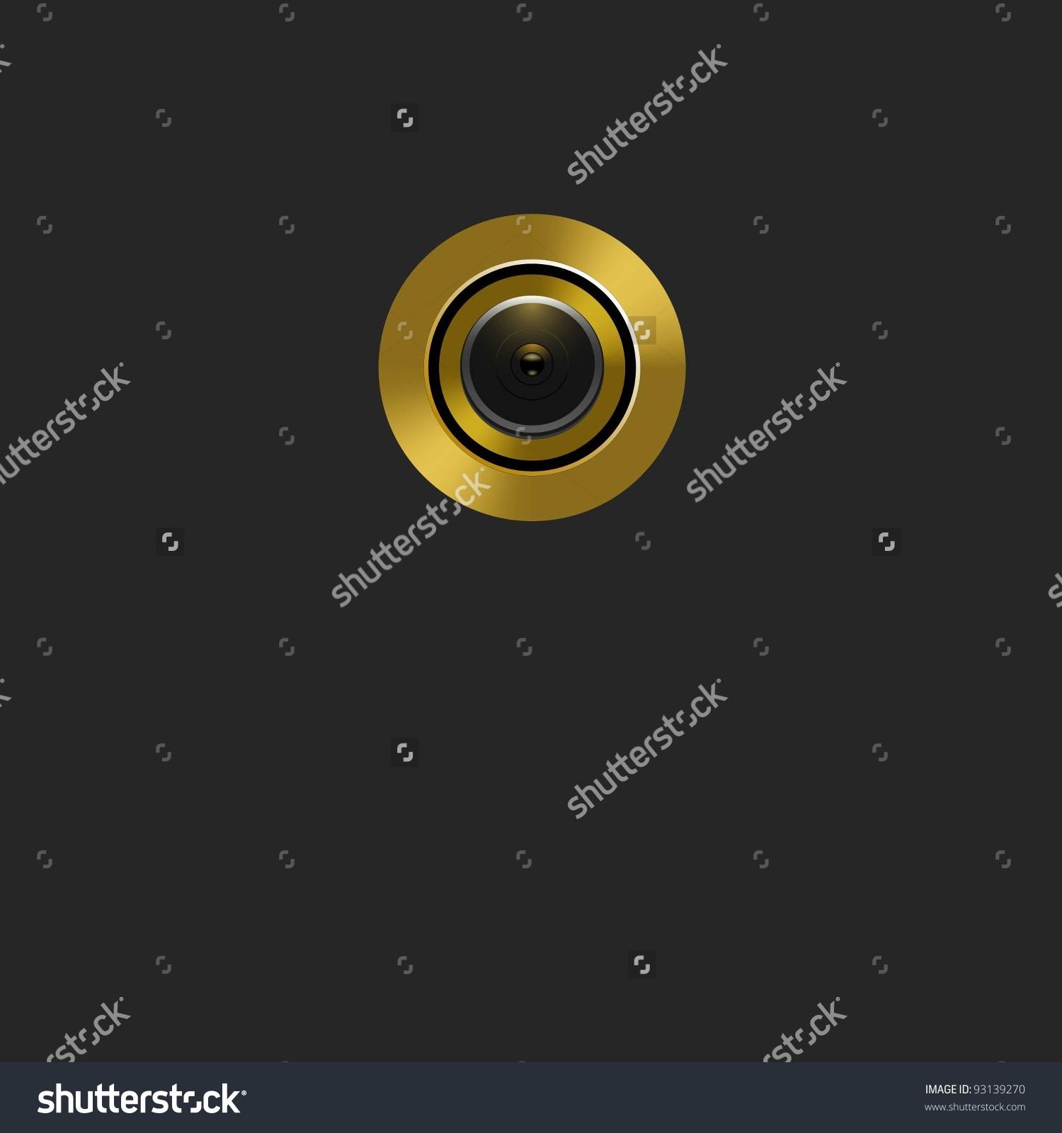 Door Lens Peephole Stock Vector Illustration 93139270 : Shutterstock.