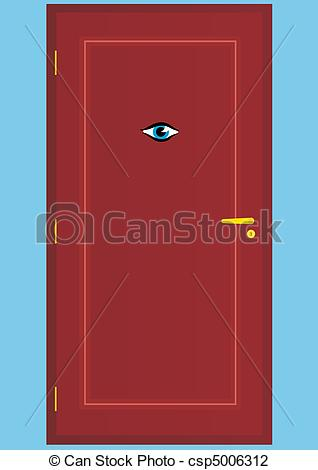 Vector Illustration of Peephole.
