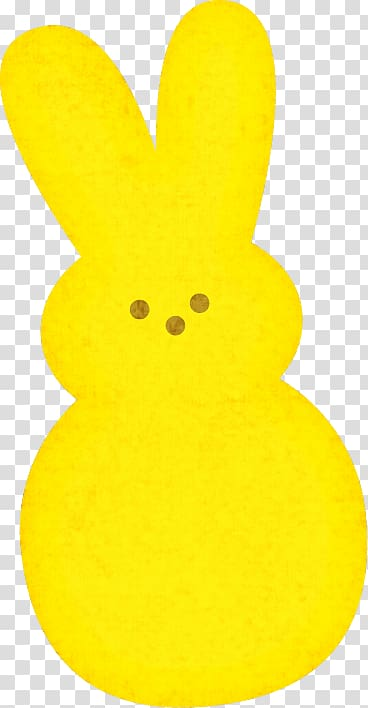 Peeps Cotton candy , yellow bunny transparent background PNG.
