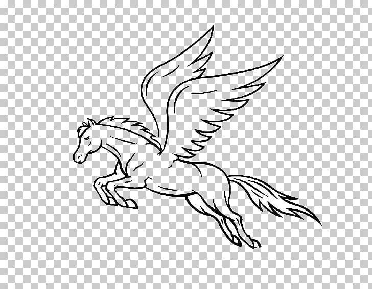 Horse Pegasus Drawing, Pegasus, pegasus PNG clipart.
