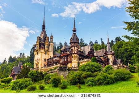Peles Castle Stock Images, Royalty.