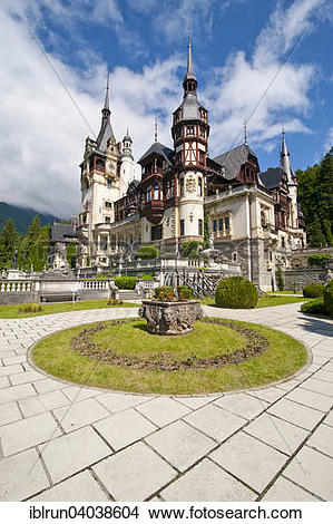 "Stock Photo of ""Peles castle, Sinaia, Romania, Europe."