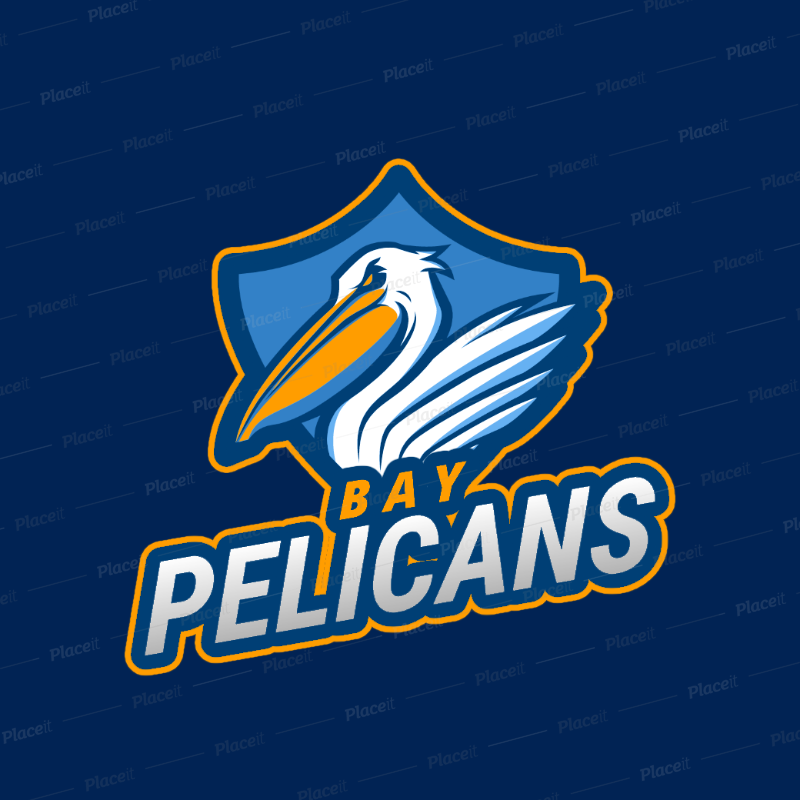 Sports Logo Generator Featuring an Angry Pelican Clipart 2693k.