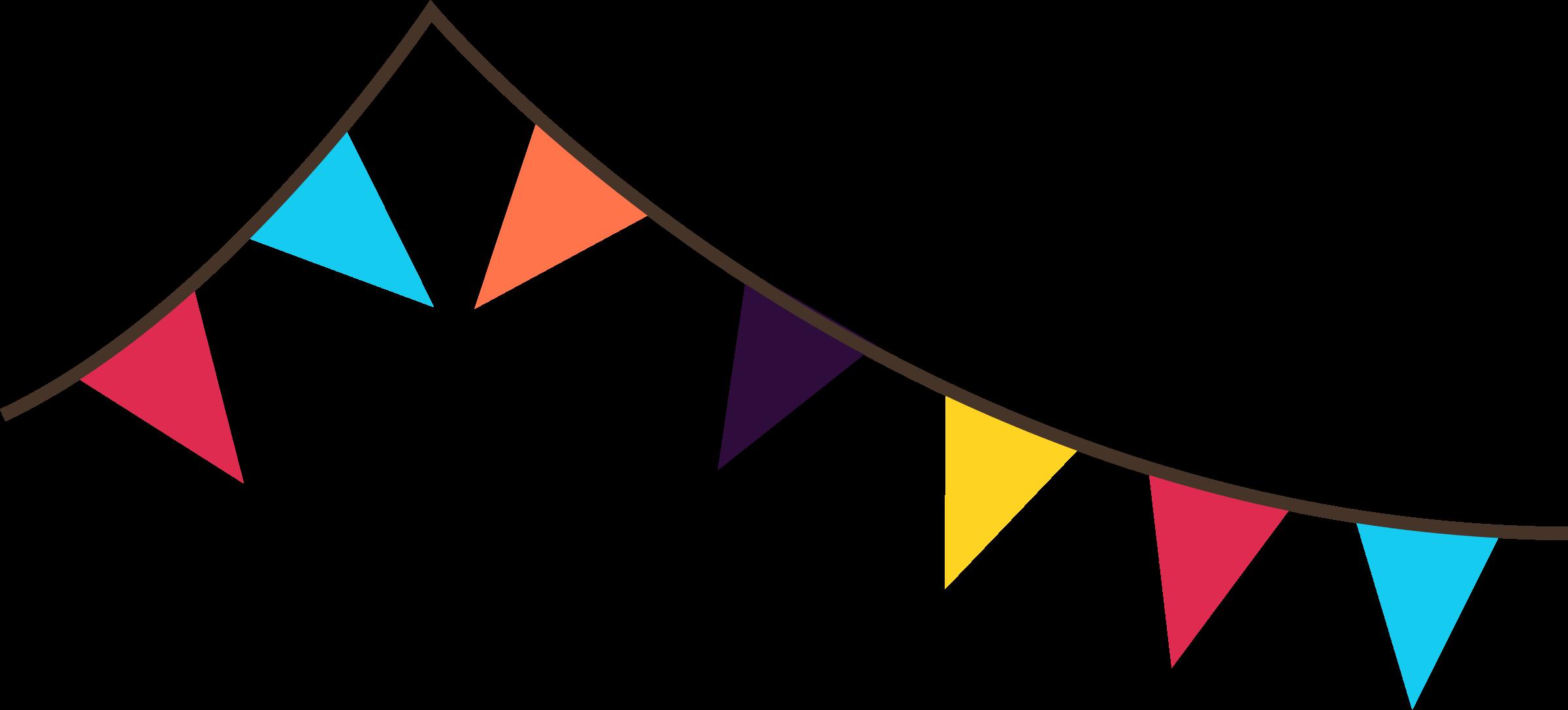 Flag pennant clipart.