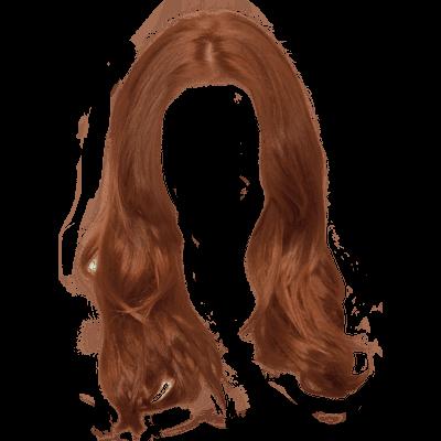 Ginger Long Women Hair transparent PNG.