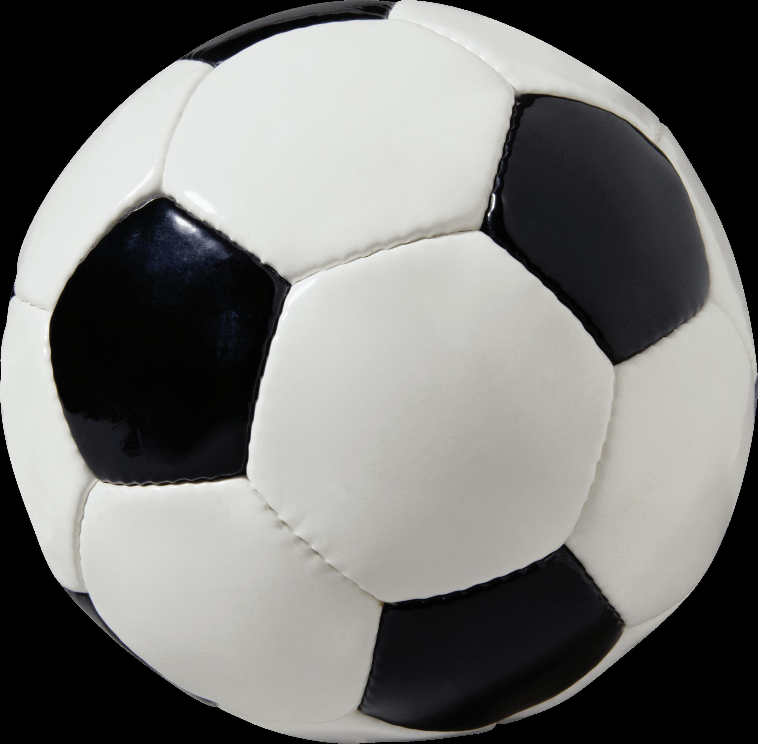 Balón de Fútbol en Cuero PNG transparente.