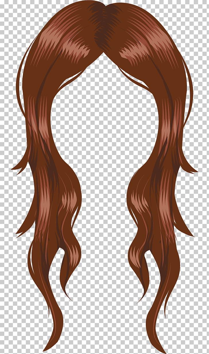 Peinado del cabello para colorear peluca mujer, cambio de.