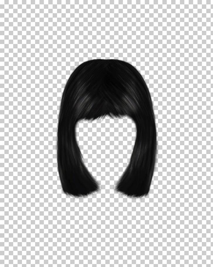 Pelo negro, pelo negro peluca pelo largo, pelo de mujer PNG.