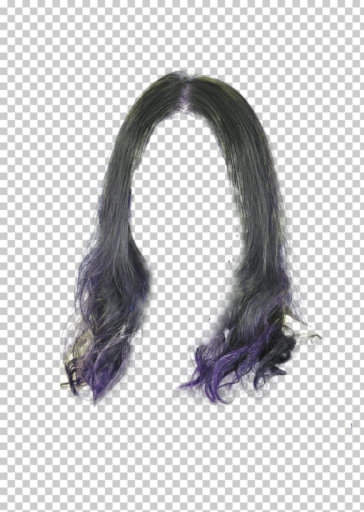 Peluca mujer capelli, patrón de decoración de pelo largo y.