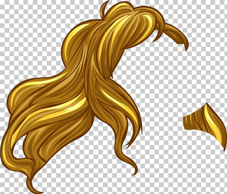 Peinado peluca rubia, pelo PNG Clipart.