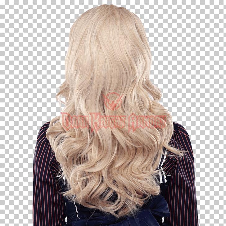 Peluca rubia para colorear cabello lolita moda, cabello. PNG.