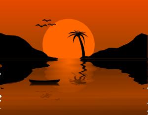 Sunset Water Scene Clip Art at Clker.com.