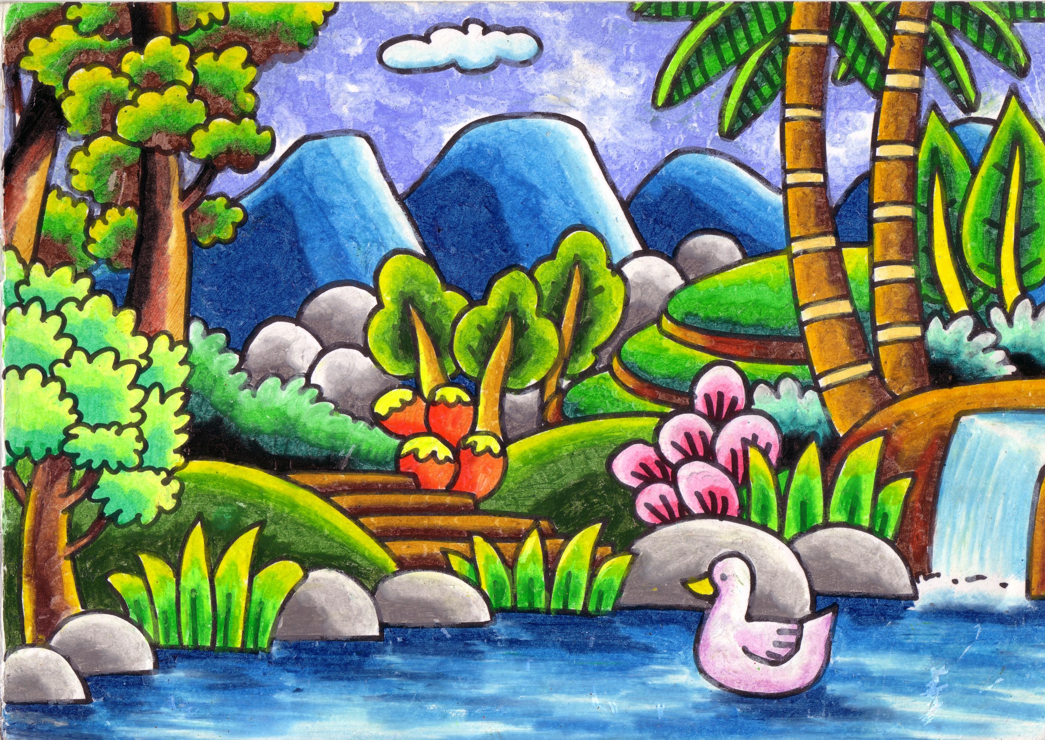 Pop Art Landscape Art Projects For Kids Coloring Book 7 15323.