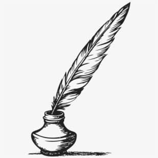 Quill Clipart Blue Feather.