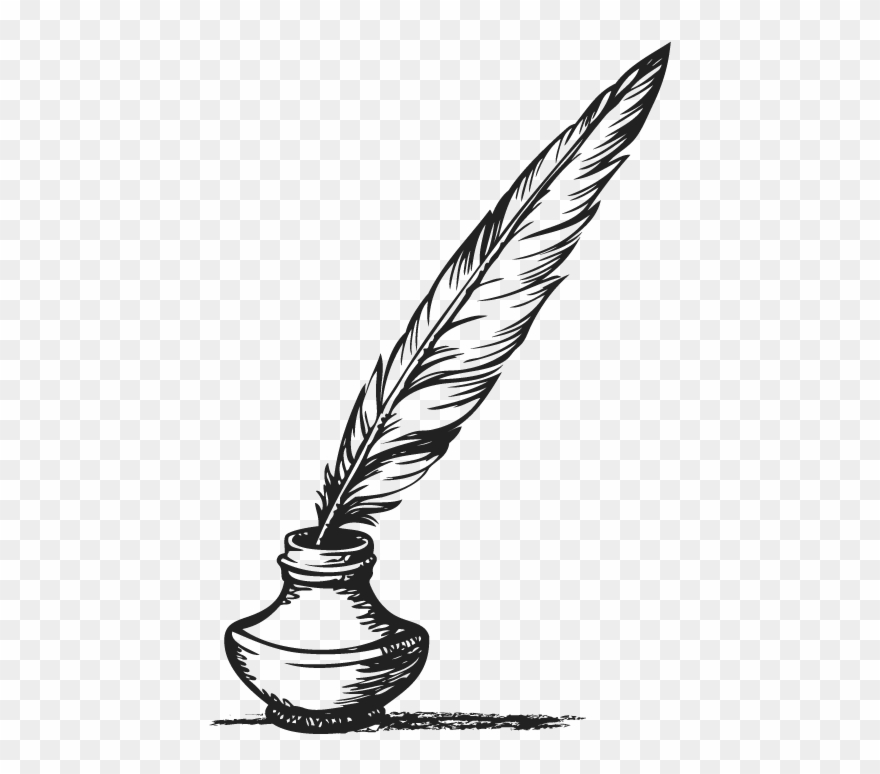 Feather Clipart Pen And Ink.