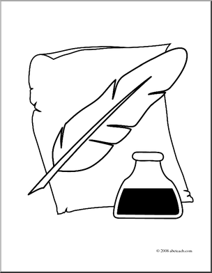 Pen and ink drawing clipart clipground for Pen coloring pages