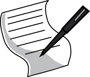 Pen and paper clipart free images.