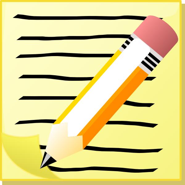 Pen And Paper Clip Art.