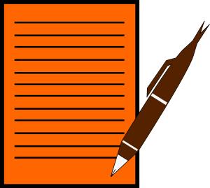 Pen With Paper Clip Art Download.