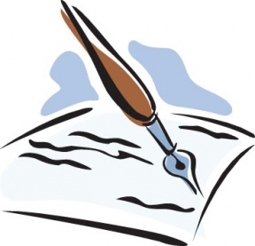 Pen And Paper Writing Clipart.