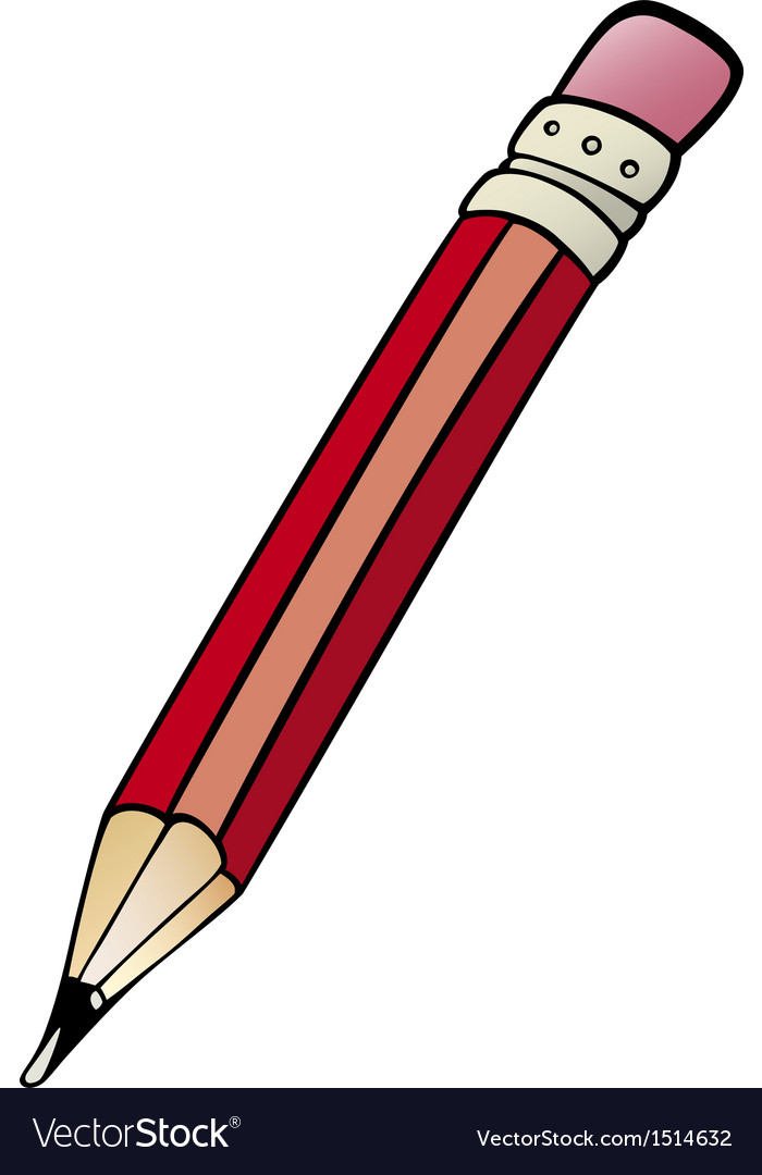Pencil clip art cartoon.