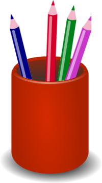 Pencil holder clipart.