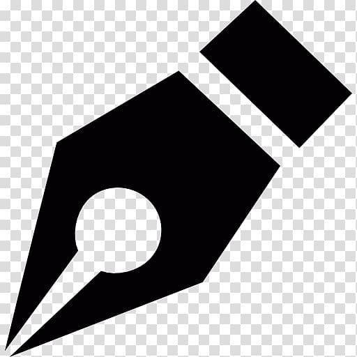 Fountain pen tip illustration, Fountain pen Logo Marker pen.