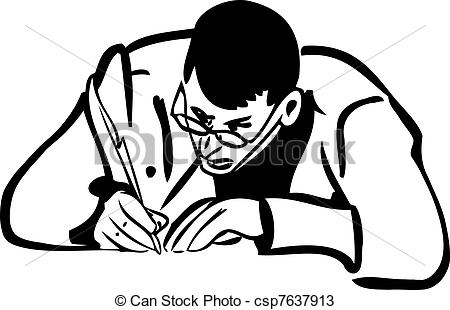 pen writing on paper clipart #11