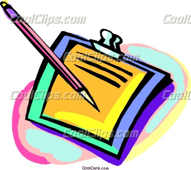 Pen And Paper Clipart.