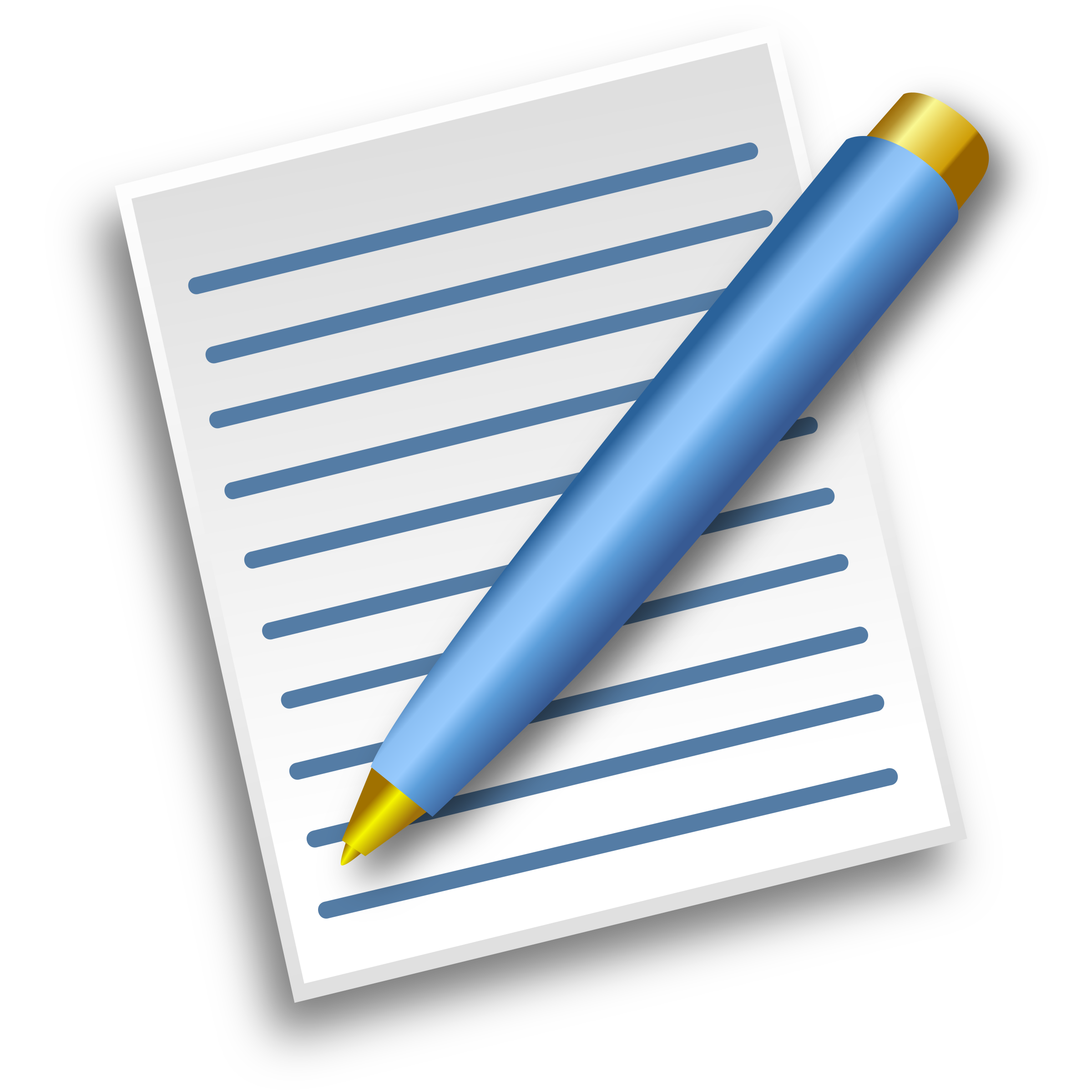Pen Writing Paper Clipart.