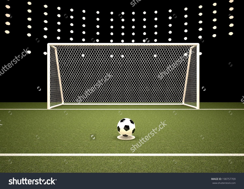 Penalty Areagoalfootballsoccer Stock Illustration 198757709.