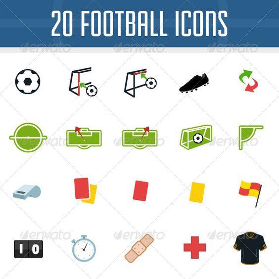 Football Icon Pack  assist, ball, corner, flag, flat, football.