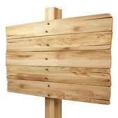 Clipart of Illustration of a wooden billboard with the enclosed.